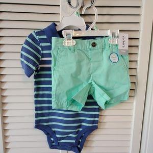 Carter's 2 pc size 18 months short set